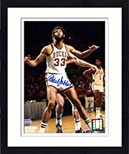 Framed Milwaukee Bucks Kareem Abdul-Jabbar Autographed 8 x 10 Photo - Mounted... by Sports Memorabilia