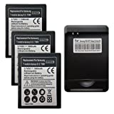 3x 1980Mah BATTERY + CHARGER FOR SGH-i727 Samsung Galaxy S II 2 Skyrocket AT&T