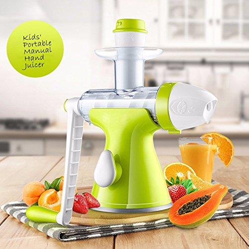 Bon Venu Slow Manual Juicer - Fruits Vegetables Hand Juicer - Suction Base- Kids Juicer Ice-cream Maker Juice Extractor Masticating Extruder Manual Hand Crank Single Auger Juicer (Masticate Juicer compare prices)