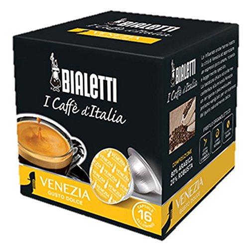 16 CAPSULE MOKESPRESSO BIALETTI ALLUMINIO I CAFFE' D'ITALIA MISCELA VENEZIA