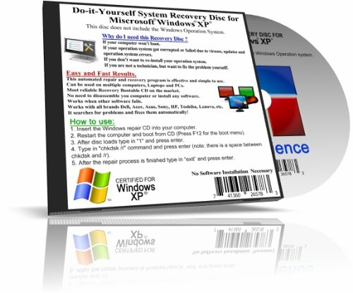 Recovery Boot Disc for Windows XP System 32 BIT
