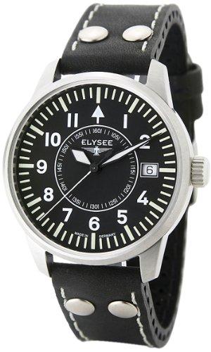 Elysée - 71010 - Montre Femme - Automatique - Bracelet en Cuir Noir