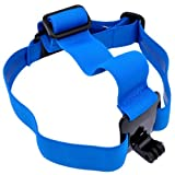 Patuoxun® Elastic Adjustable Head Strap Mount Belt For GoPro HD Hero 1/2/3 Camera BLUE