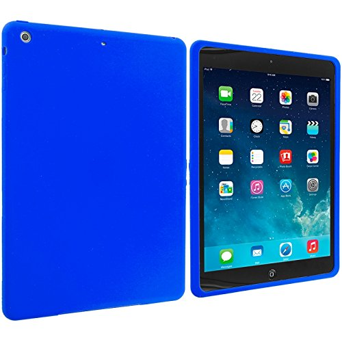 Cell Accessories For Less (Tm) Blue Silicone Soft Skin Case Cover For Apple Ipad Air // Free Shipping By Thetargetbuys front-1066153