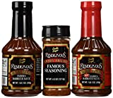 Charlie Vergos Rendezvous (Memphis) BBQ Sampler Bundle -- Hot BBQ Sauce, Original BBQ Sauce & Seasoning Rub