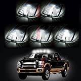 CCIYU 5x Smoke Cab Roof Marker Lenses Clearance Lamp +5x LED Bulbs White T10 194 W5W 168 2825 921 912 For CHEVY GMC 1988-2000 Chevrolet 1988-2000 GMC C1500 C2500 C3500 K1500 K2500 K3500