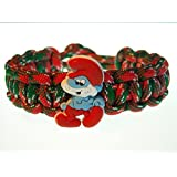 Thrive Camp FUN DESIGN Paracord Bracelet SMURF Classic Tie Red Green White Camo Size 7 3/4