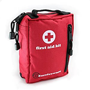 Small First Aid Kit Best for Hiking, Backpacking, Camping, Travel, Car & Cycling. Waterproof Laminate Bags Protect Your Items! Perfect for all Outdoor Adventures or be Prepared at Home & Work