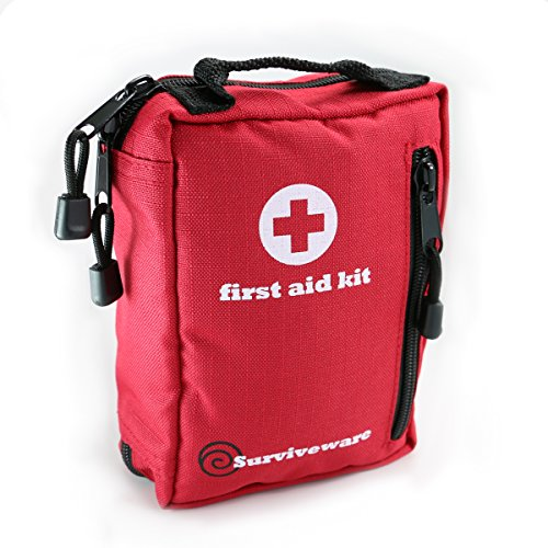 Small First Aid Kit Best for Hiking, Backpacking, Camping, Travel, Car & Cycling. Waterproof Laminate Bags Protect Your Items! Perfect for all Outdoor Adventures or be Prepared at Home & Work (First Aid Or Auto Emergency Kits compare prices)