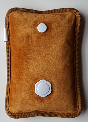 Rechargeable Portable Heat Pad/Pack Brown (Hot Water Foot Warmer compare prices)