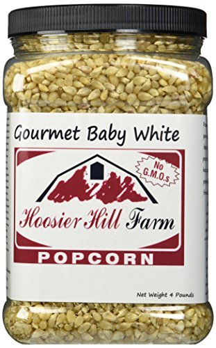Hoosier Hill Farm Baby White, Popcorn Lovers 4 lb. Jar. (Popcorn Baby compare prices)