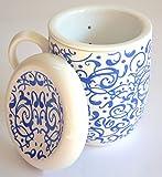 Ceramic Tea Infuser Mug Blue