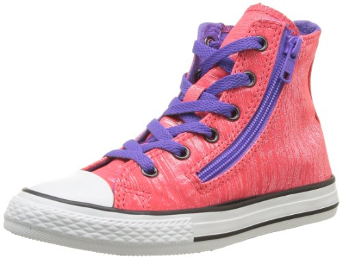 CONVERSE Unisex-Child Chuck Taylor All Star Glam Double Zip Hi Trainers 366871-31-13 Rose Diva/Violet 12 UK, 30 EU