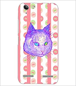 PrintDhaba Cat D-3462 Back Case Cover for LENOVO A6020a46 (Multi-Coloured)