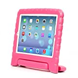 iPad Mini 4 Case - Travellor® Kids Light Weight Kido Series Convertible Handle Kickstand Kids Friendly Shockproof Protective Cover with Stand & Handle for Apple iPad Mini 4 (2015 Release) (Rose)