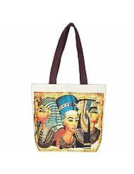 The House Of Tara Egyptian Print Handbag (Multicolour)