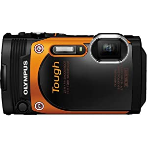 Olympus TG-860 Tough Waterproof Digital Camera with 3-Inch LCD (Orange) (Certified Refurbished)