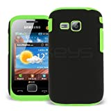 Celicious Green Hybrid Silicone Combo Case for Samsung C3312 Duos Samsung Champ Deluxe Duos Case Sturdy Protection Rigid Fit Tough 2-Layer Custom Fit Shell with Inner Silicone Skin Core
