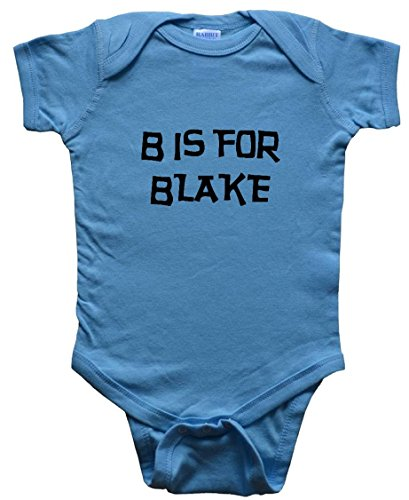 B Is For Blake / Hurry Up - Name-Series - Blue Baby One Piece Bodysuit - Size Medium (12-18M)