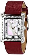 Burgi Womens BUR088BUR Swiss Quartz Crystal Mother-of-Pearl