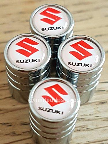 Suzuki-RotWei-Top-Chrom-Deluxe-Rad-Ventil-Staubkappen-Exklusiv-von-uns-alle-Modelle-clerio-Swift-Jimmy-Vitara-SX4-S-Cross