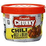 Campbell's Chunky Beef & Bean Roadhouse Chili, 15.25 Ounce Microwavable Bowls (Pack of 8) ~ Campbell's