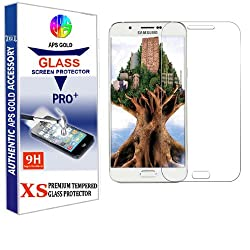 APS GOLD 2.5D 0.3mm Pro+ Tempered Glass Screen Protector For Samsung Galaxy A8