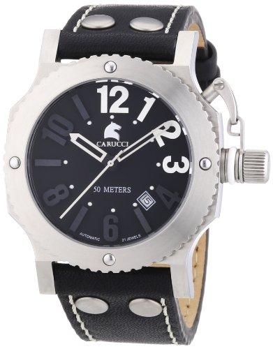 Carucci Watches CA2210BK - Reloj de pulsera unisex, caucho, color negro