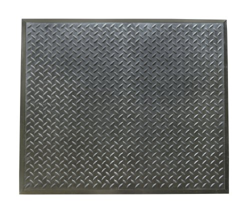 Rubber-Cal Foot-Rest Rubber Anti-Fatigue Mat - 1/2inch x 28inch x 31inch