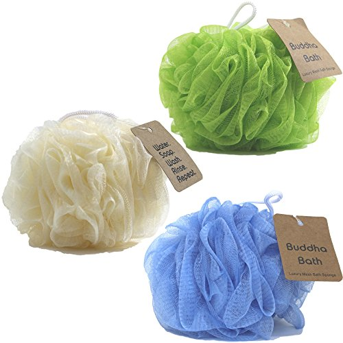 buddha-bath-3-pack-of-luxury-bath-sponges-eco-friendly-large-mesh-loofah-pouf-2-deluxe-color-options
