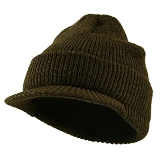 Military Wool Jeep Cap - Olive