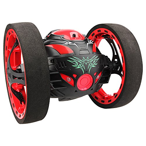 Kycola CS05 2.4G Remote Control Jumping Bounce RC Toy Car With Mobile Wifi HD Camera Control(Black+Red) (Remote Control Camera Car compare prices)