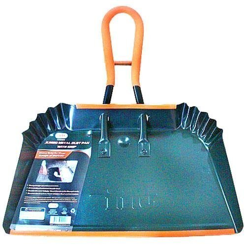 Jumbo Metal Dust Pan with Grip - 17 inch Size (Industrial Size Pan compare prices)
