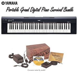 Yamaha NP30 Portable Grand Digital Piano Survival Bundle   Pianos