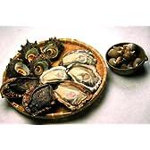 【新潟県産】天然貝セットA(煮ばい貝付)【あわび1個、岩牡蠣4個+煮バイ貝(200g)】