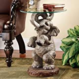 Good Fortune Elephant End Table