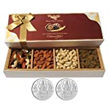Chocholik Dry Fruits - Unforgatable Dry Fruits Combination With 5gm X 2 Pure Silver Coins - Gifts For Diwali