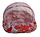 Amardeep Baby Mattress With Mosquito Net Collage Print RED XL