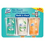 ALL NEW Lysol No Touch Hand Soap System Refill 3-Pack