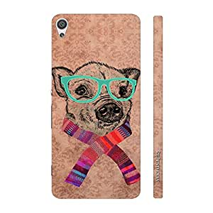 Enthopia Designer Hardshell Case Geeky Dog Back Cover for Sony Xperia XA Ultra
