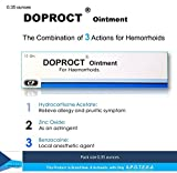 Hydrocortisone Hemorrhoids Relief Ointment (Doproct Ointment Packing 0.35 ounces) Effective with 3 Actions for Internal and external hemorrhoids and Itching proctitis