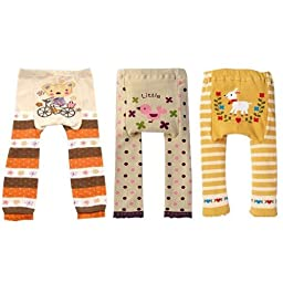 Wrapables Baby and Toddler Leggings, Sweet Baby - 24 to 36 Months