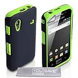 """Yousave Accessories TM Samsung Galaxy Ace S5830 Gr�n Zweil Teil Silikon H�lle Tasche Mit Displayschutzvon """"Yousave"""""""