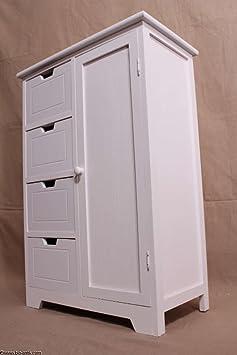 Piso Armario baño armario armario auxiliar Aparador 4cajones/armario compartimento