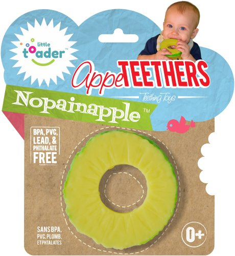 Little Toader Teething Toys, Nopainapple - 1
