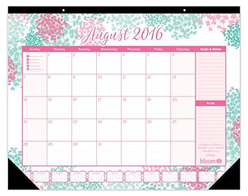 ... Calendar with FREE Vision Board! 2016 Calendar Year Desk Pad: August