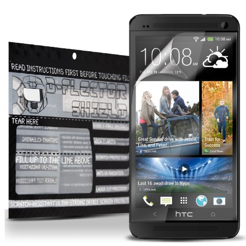 D-Flectorshield Scratch Resistant Htc One M7 Screen Protector - Free Replacement Program