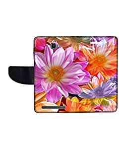 KolorEdge Printed Flip Cover For Alcatel One Touch Flash Multicolor - (1479-55KeMLogo10429AlcatelFlash)