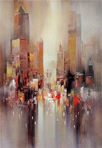 contemporary-abstract-painting-city-outline-oil-painting-30x43-inch-76x110-cm-printed-on-high-qualit
