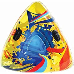 Buy Aqua Leisure Winter Infusion Inflatable Triangle Wedge Snow Tube Sled for 2 ( Two ) Riders on Sledding Hill, Fast yet... by Aqua Leisure